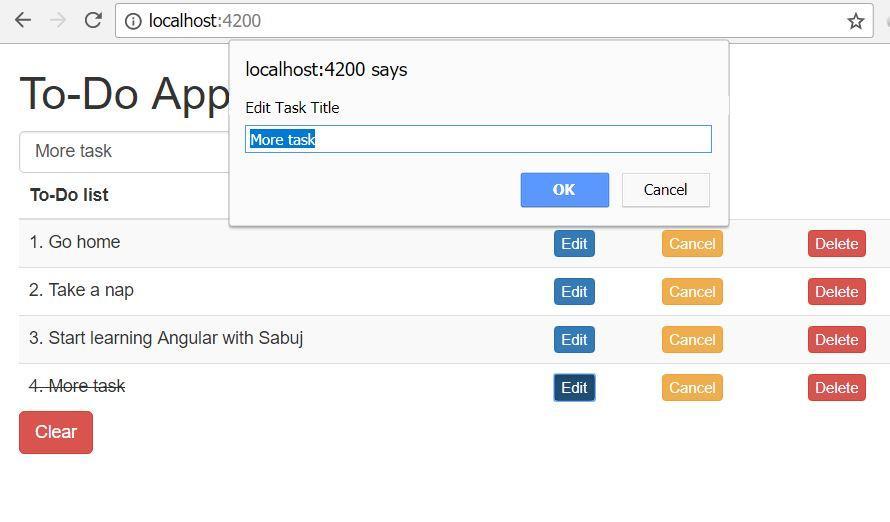 Angular 5 To-Do List App - Part 5 DiscoverSDK Blog