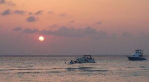 Sunset over Playa Norte on Isla Mujeres