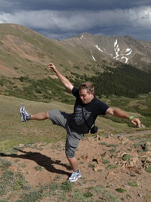 Andy stumble at Loveland Pass, CO