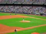 Brewers game at Miller Park with Canon S100 travel camera tilt-shift effect