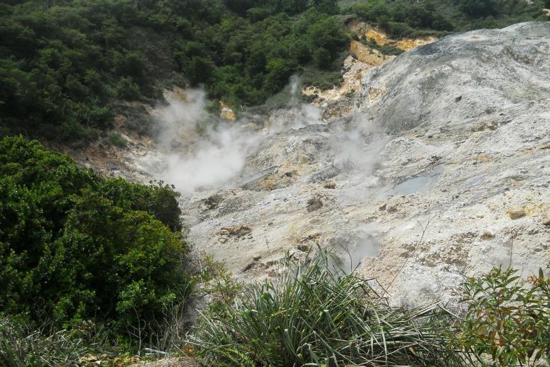 Sulphur spring in Soufriere Saint Lucia