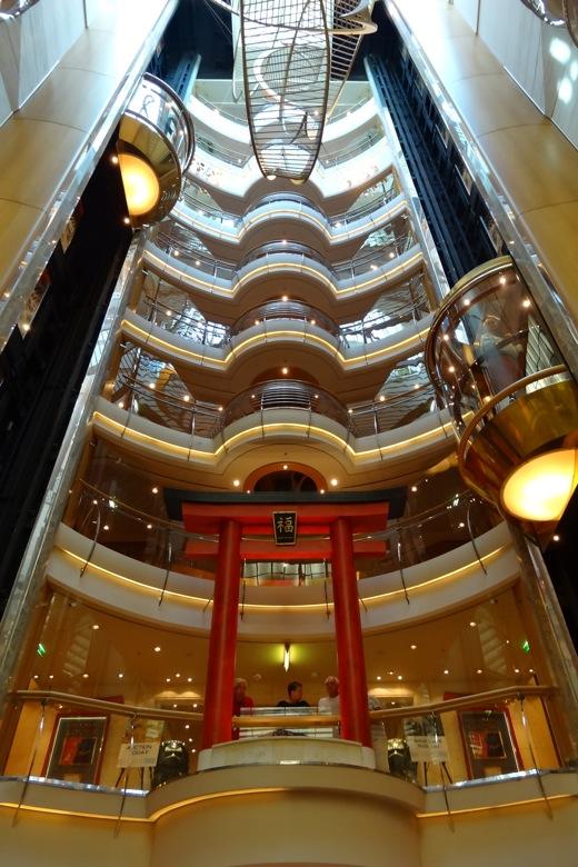 Elevator shafts on the boat