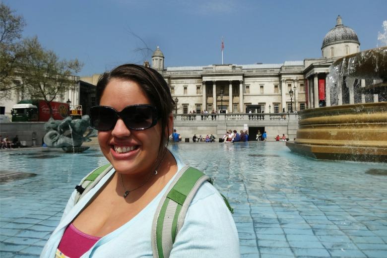 Becki at Trafalgar Square