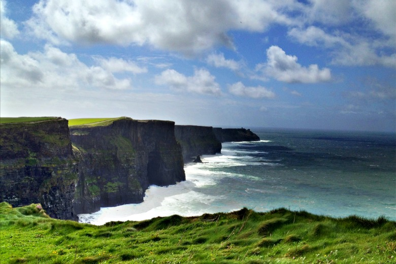 The Cliffs of Moher on a fine sunny day
