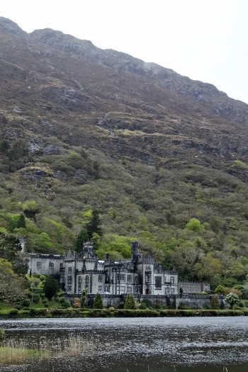 Kylemore Abbey - mountain behind it, lake in front of it. Simply beautiful.