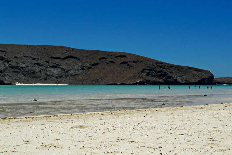 Balandra's shallow waters makes a perfect beach for families.