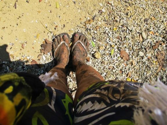 muddy on sempu island