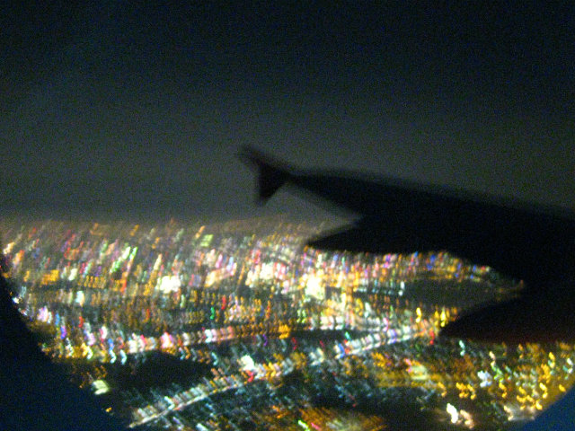 city from the plane