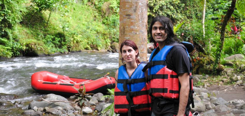 Backpack ME Ashray and Zara Rafting in Bali