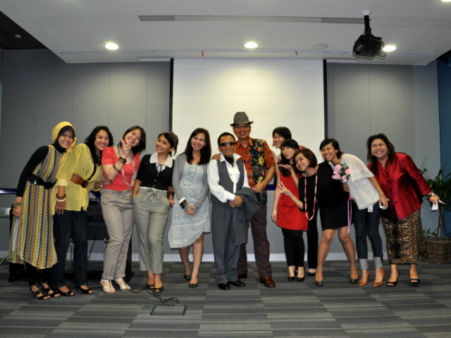 fashion show in a meeting room