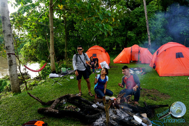 camp by musi river