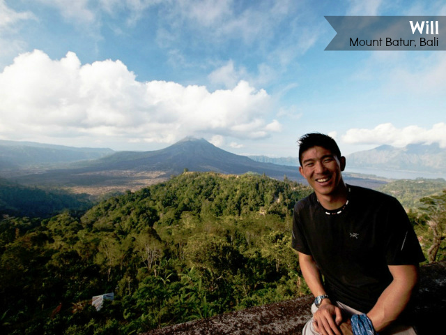 Will Tang at mount Batur Indonesia