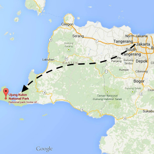 map Ujung Kulon