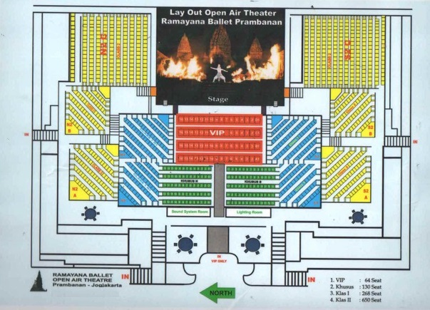 Layout Ramayana Ballet Stage Open Air