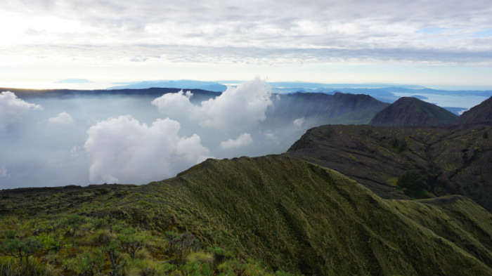 view from tambora summit