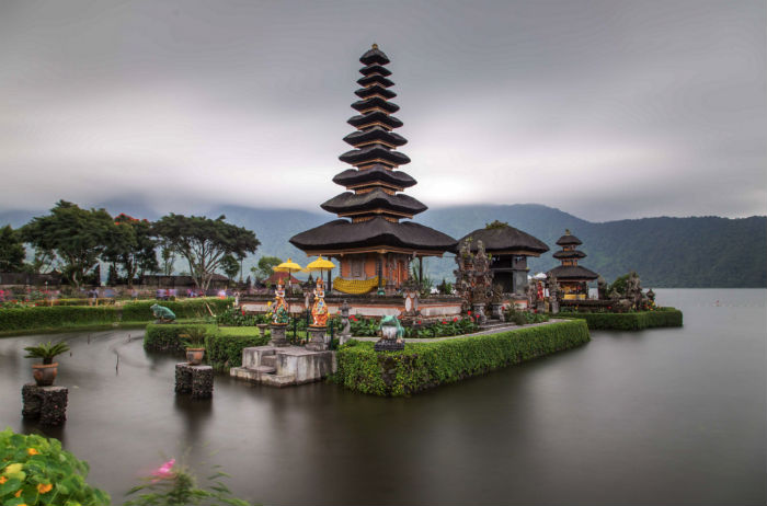 Ulun Danu is located in the highlands of Bali. The temple is one of the most photographed on the island.