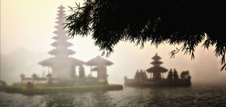 ulun Danu on a misty day