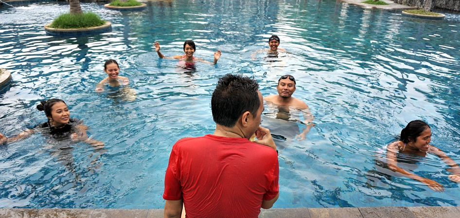 Novotel Hotel Pool one of the best options to stay in Palembang