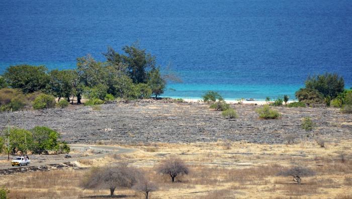 Purukambera beach from the hill