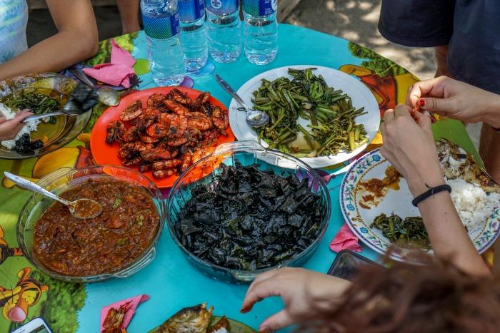 Fresh seafood in Makassar