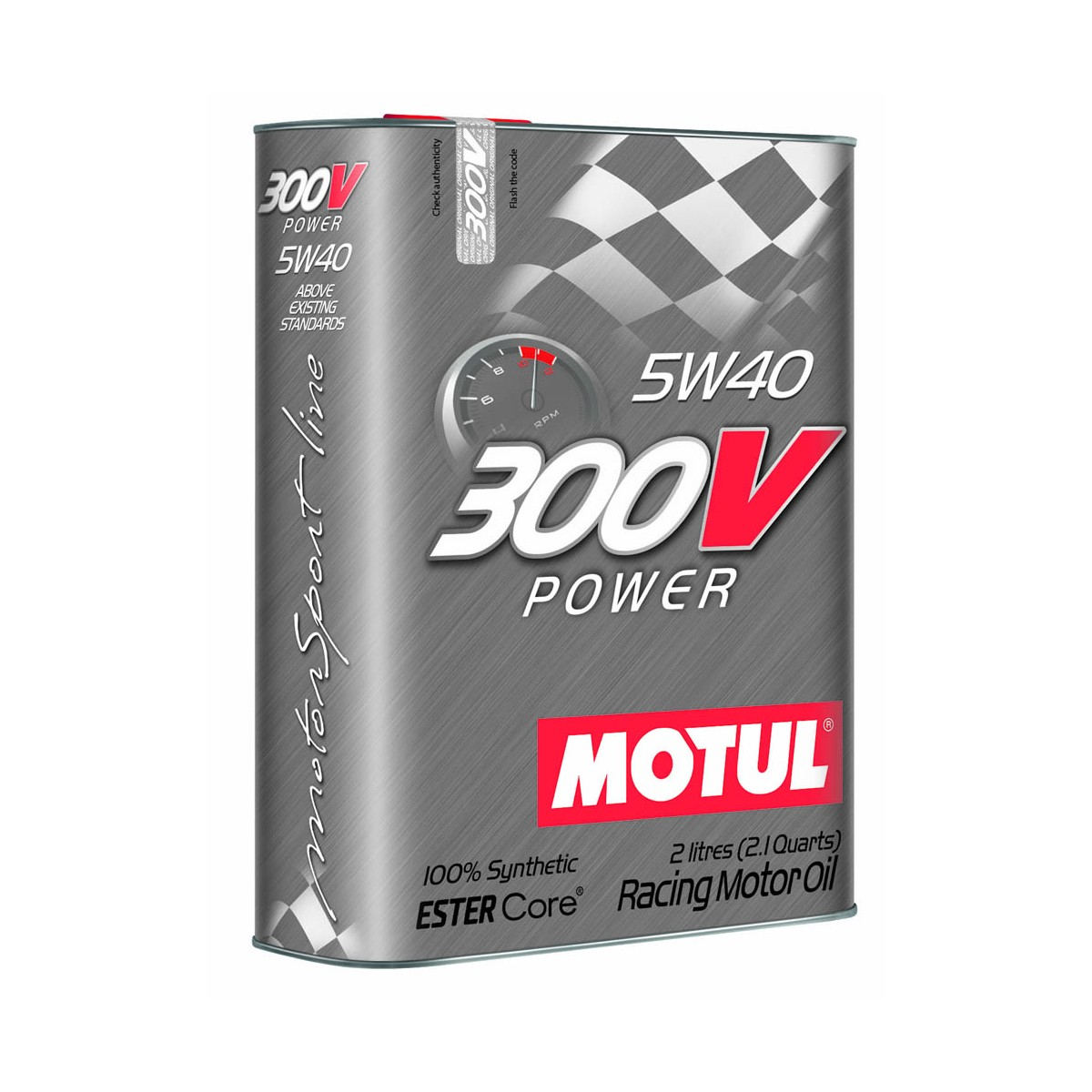 5 W 40 Motul 300v Power Competition Oil 5w40 2 Liter Can Motl 104242