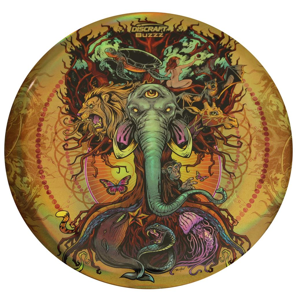 Elite Design Team Inc Full Foil Supercolor Buzzz Tree Of Life Discraft Inc