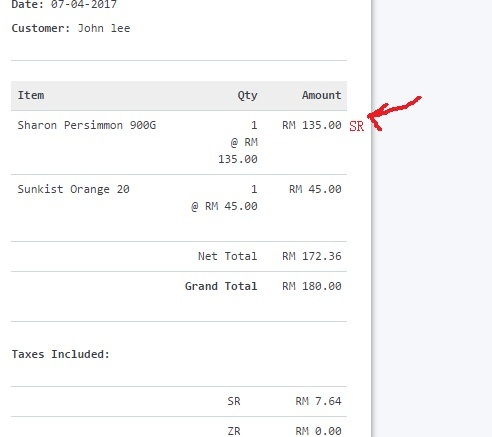 How to print tax description in pos invoice? - Print Formats - Invoice Print