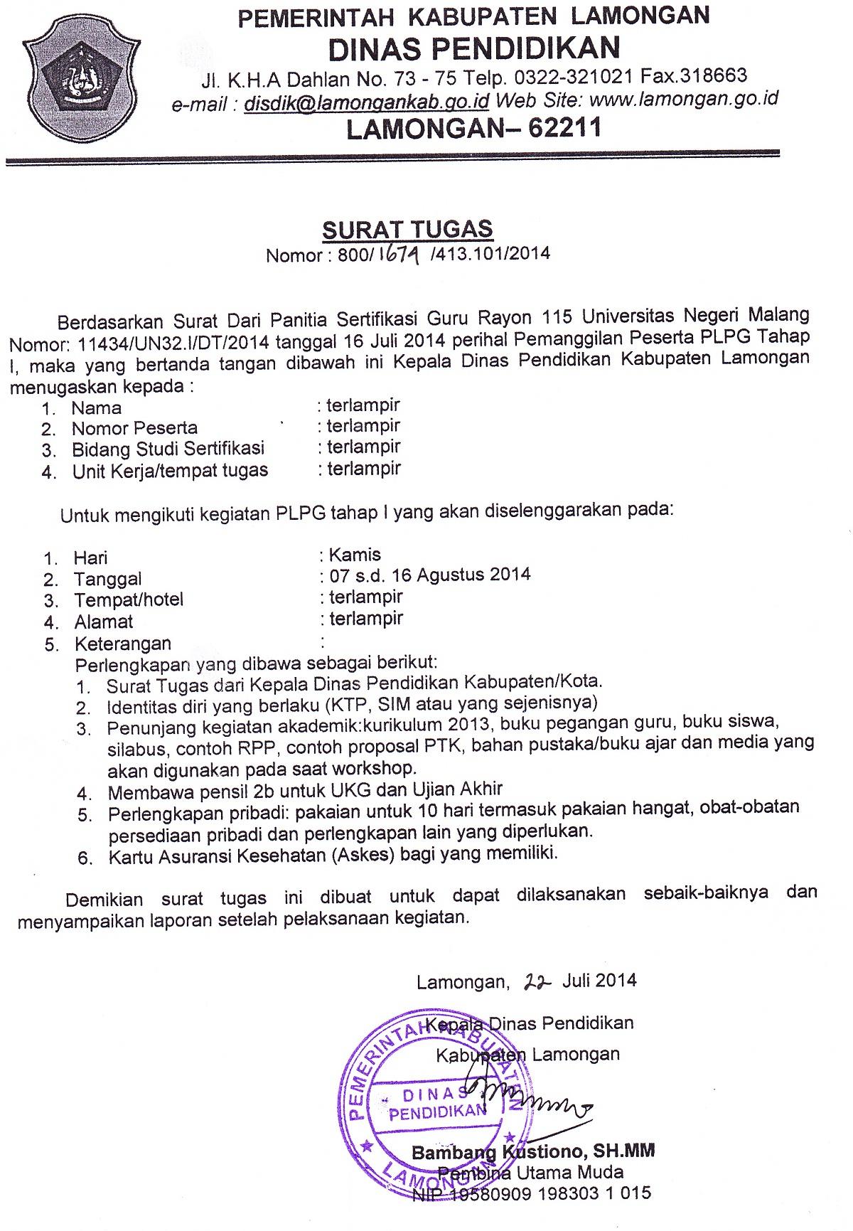 Cpns Kab Malang Bkd Kabupaten Malang Malang Di Undang Ke Dinas Pendidikan Kab Lamongan Di Ruangan Krida