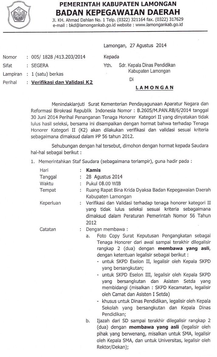 K2 Lamongan Info Lowongan Cpns 2016 Terbaru Honorer K2 Terbaru Agustus K2 Lamongan 2014 Yang Tidak Lulus