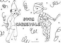Disegno da colorare per Carnevale