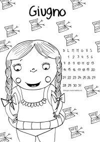 Calendario da colorare: il mese di Giugno   Disegni ...