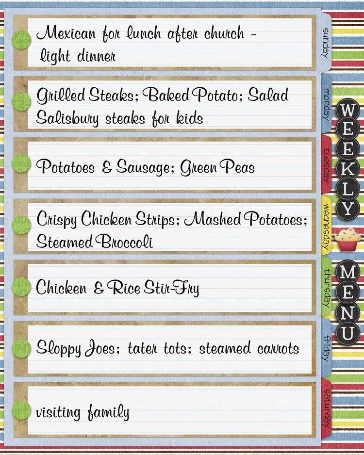 How to Plan Meals Menu Planning - weekly dinner meal plans