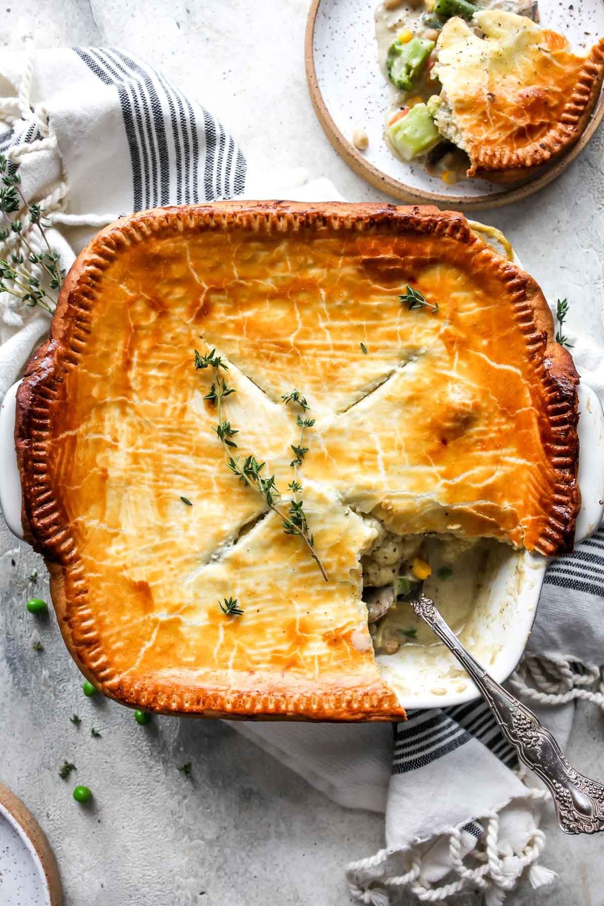Creamy Vegetable Pot Pie Dishing Out Health