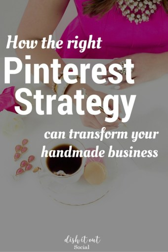 Pinterest marketing can be tricky when your a handmade business owner. Find the right Pinterest strategy here.