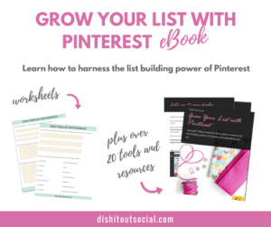 grow your email list with the power of Pinterest.