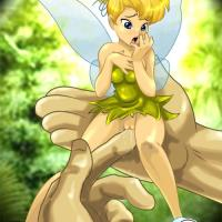 Tinker Bell becomes very wet every time she is touched by Peter's big fingers down there