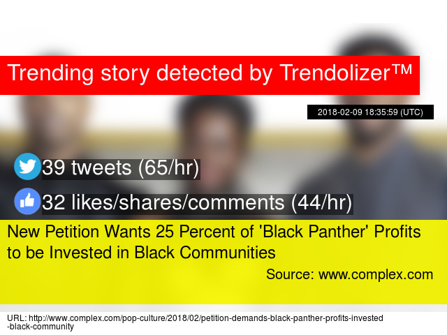 New Petition Wants 25 Percent of #x27;Black Panther#x27; Profits