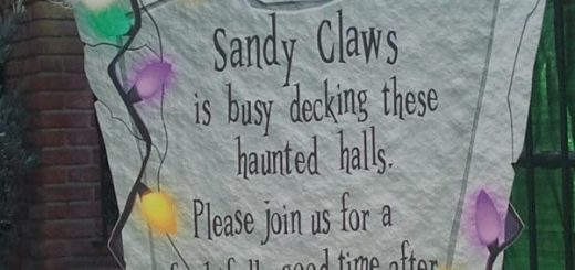 Haunted Mansion Holiday Return Sign