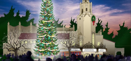 Buena Vista Street Christmas Concept Art