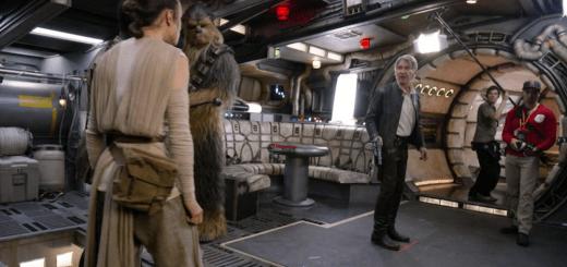 Star Wars The Force Awakens Blu Ray Documentary Secrets Han Solo Rey Finn Millennium Falcon Scene