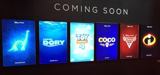 Pixar Sequels Movie Posters 2015 D23 Expo
