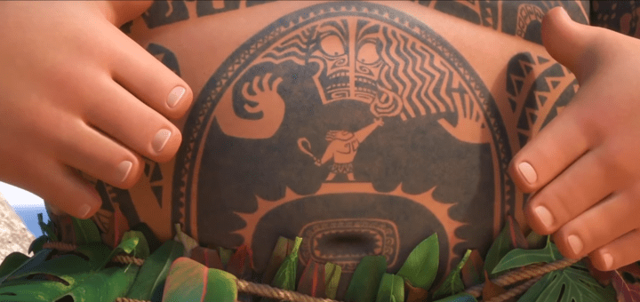 Maui Moana Dwayne The Rock Johnson You're Welcome Song Tattoos