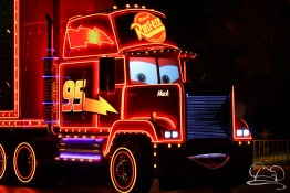 Mack Truck in Disneyland's Paint the Night Parade.