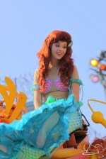 The Little Mermaid herself in Mickey's Soundsational Parade.