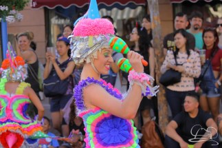 A pinata dancer in Mickey's Soundsational Parade.