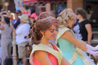 A royal court dancer in Mickey's Soundsational Parade.