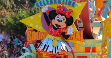 Minnie Mouse continues to celebrate the 60th Anniversary of Disneyland in Mickey's Soundational Parade.
