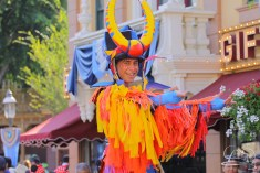 Few have more fun than the Lion King Stilt Dancers in Mickey's Soundsational Parade.