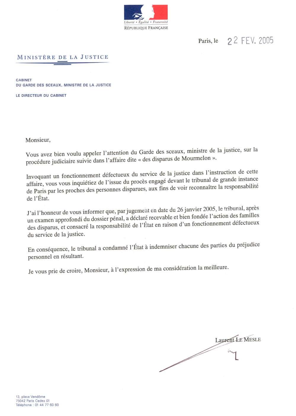 lettre de justice administrative