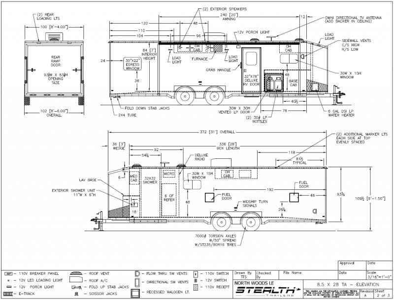 custom enclosed trailer wiring diagrams